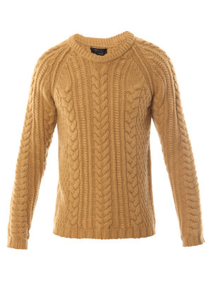 Buy BURBERRY PRORSUM Cable crew neck jumper from Matches Fashion Sale