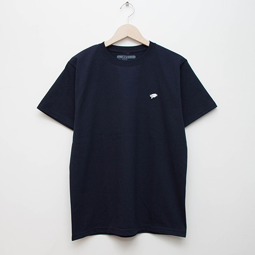 Embroidered Tee - Navy - cup and cone WEB STORE