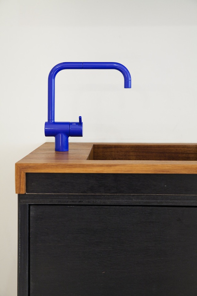 Design Sleuth: Electric Blue Vola Faucet : Remodelista
