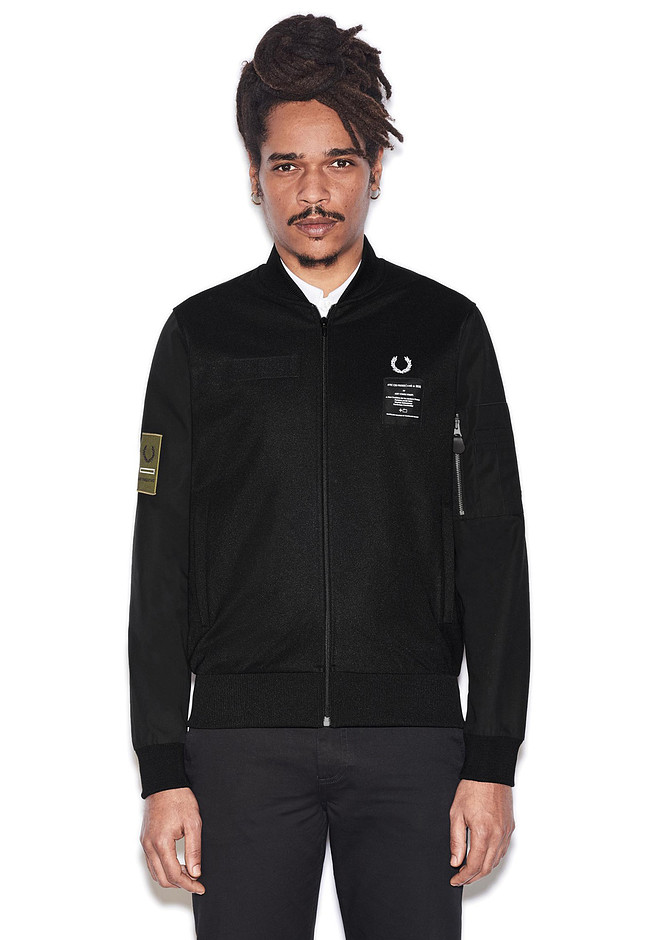 Art Comes First Contrast Sleeve Track Jacket   FRED PERRY JAPAN   フレッドペリー日本公式サイト