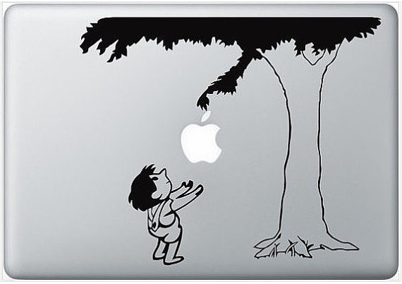 macbook decal glasses giving tree fun macbook sticker by nokdecal