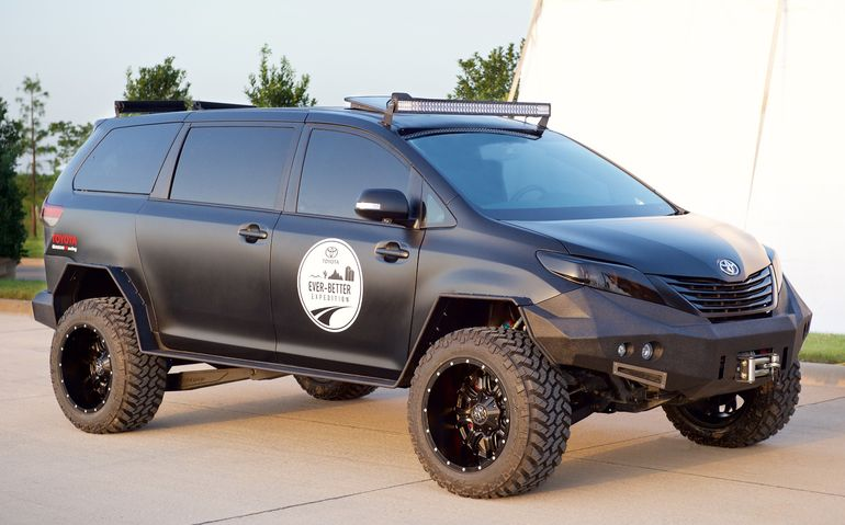 Toyota mashes Sienna minivan and Tacoma pickup into Ultimate Utility Vehicle - Images