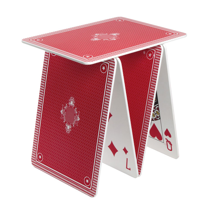 Seletti - a la Carte Side Table with Huge Poker Cards Red | Panik Design