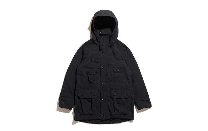 ENGINEERED GARMENTS/Field Parka-Nyco Ripstop-Black