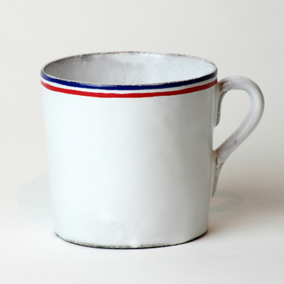 COMMUNE DE PARIS x ASTIER de VILLATTE : TRICOLORE Tea cup - WANDERLOOK.COM