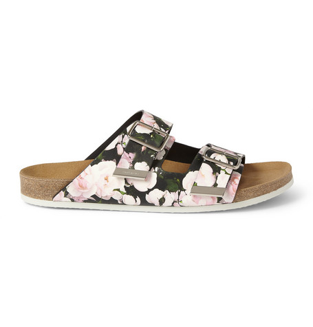 Givenchy - Swiss Sandals in Roses-Print Leather | MR PORTER