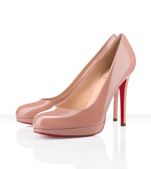 Christian Louboutin - new simple pump patent leather, nude, beige, tan, pumps, platform shoes, womens shoes