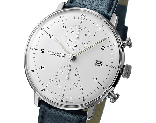 Google 画像検索結果: http://www.selectism.com/news/wp-content/uploads/2011/11/junghans-bench-loom-chrono-watch-blue-1.jpg