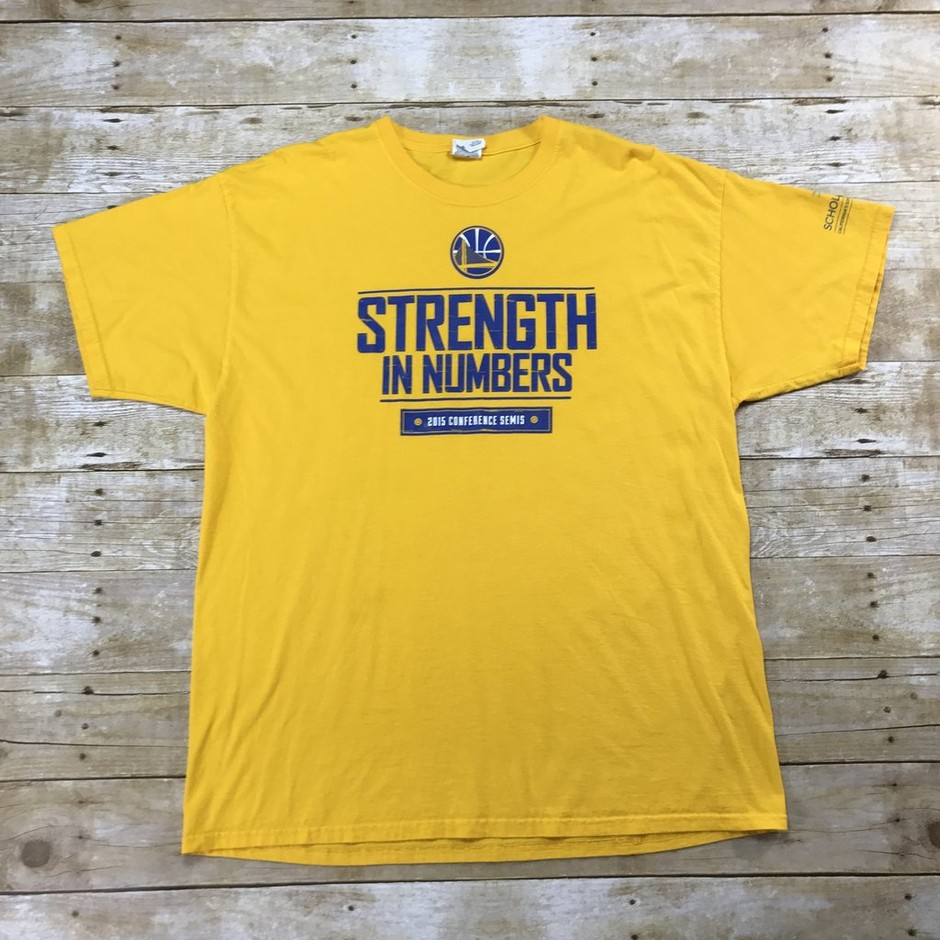 Golden State Warriors Strength in Numbers 2015 Conference Semis Shirt | Vintage Mens Goods