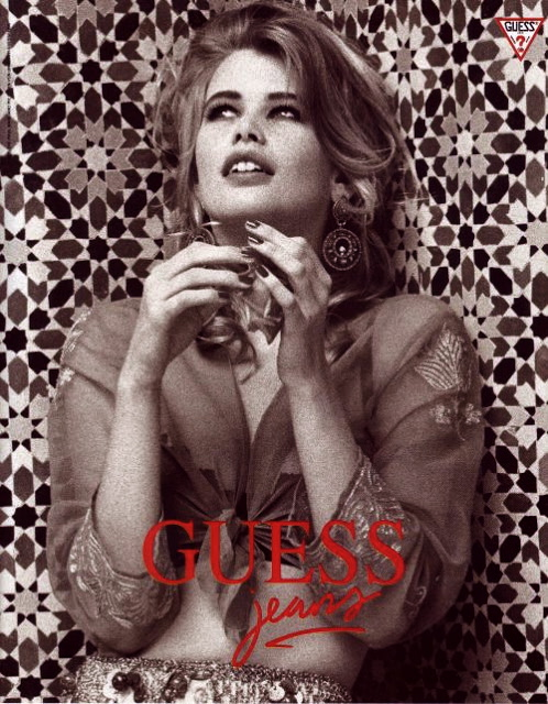 Leather & Porridge: Claudia Schiffer for Guess Jeans (video)