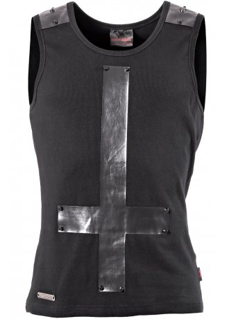 Queen Of Darkness Inverted Cross Tank | Attitude Clothing