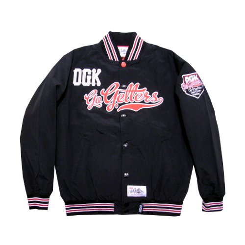 DGK - GO GETTERS JACKET (Black) - Growth skateboard elements