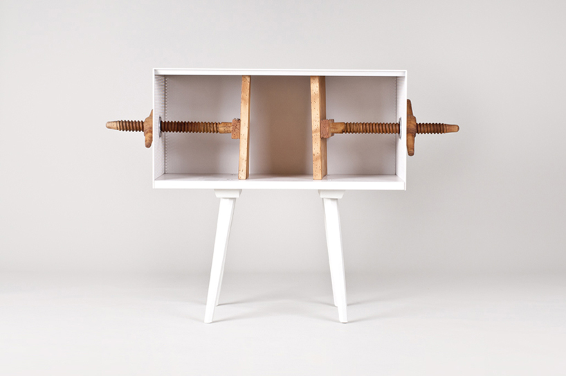 mejdstudio: twist me! bookcase at flowers for slovakia with vitra