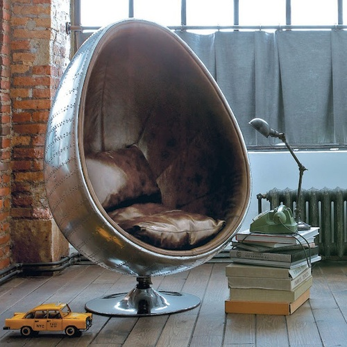 interior * pieces / Egg chair | We Heart It