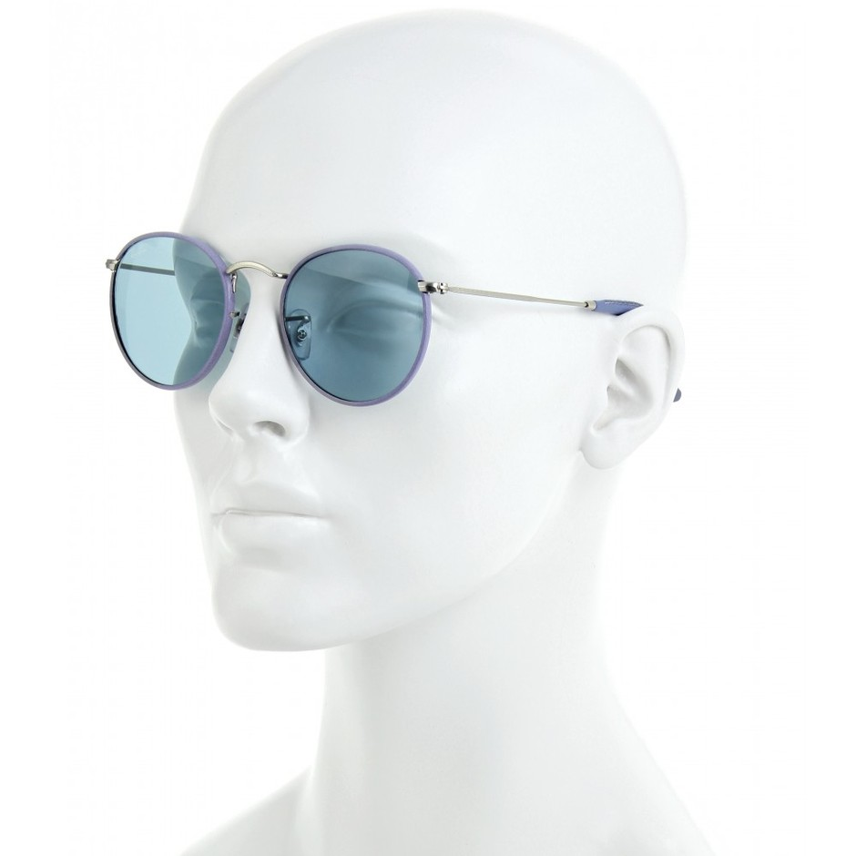 mytheresa.com - Ray-Ban - ROUND LEATHER TRIMMED SUNGLASSES - Luxury Fashion for Women / Designer clothing, shoes, bags