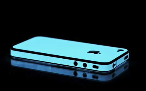 iPhone 4 Blue Glow in the Dark Skins, Wraps and Cases from SlickWraps