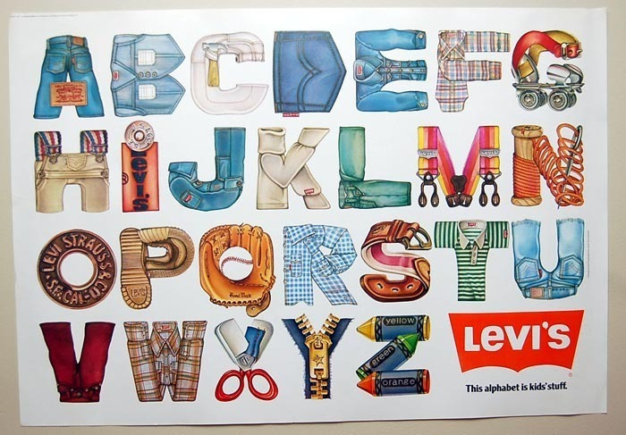 "1977 Levi Strauss & Co. Showroom 31""x 22"" Letter Poster 