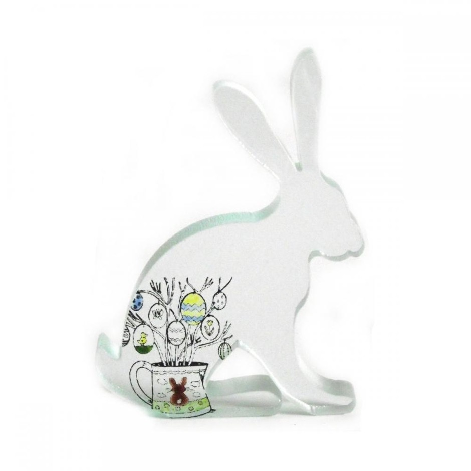 Easter Egg Hare Glass Sculpture | Luulla