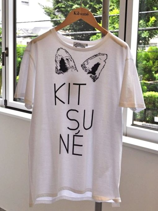 KITSUNE TEE キツネTシャツ BIG FOX WHITE*SOLD OUT