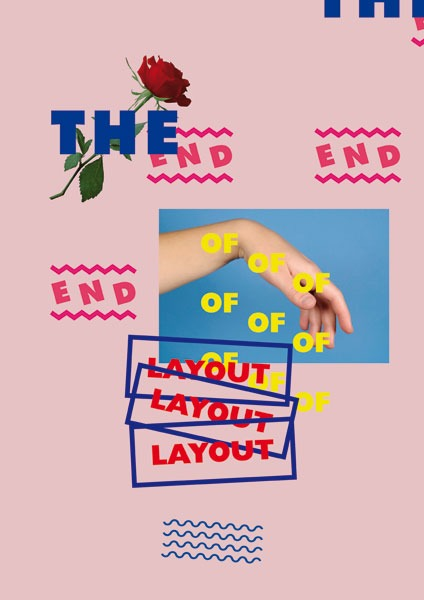 b l o g - 'the end of layout' poster 40 x 60