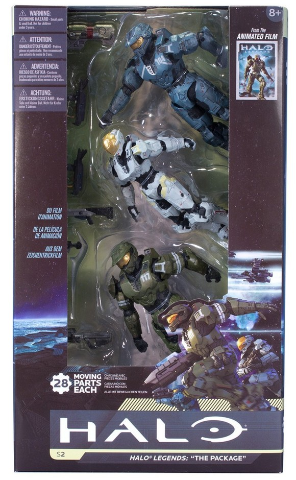 McFarlane Halo Legends The Package 3 Pack Released! - Halo Toy News