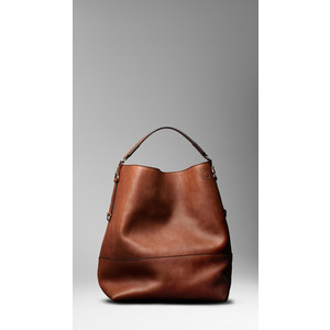 Large Washed Leather Duffle Bag - Burberry - Polyvore