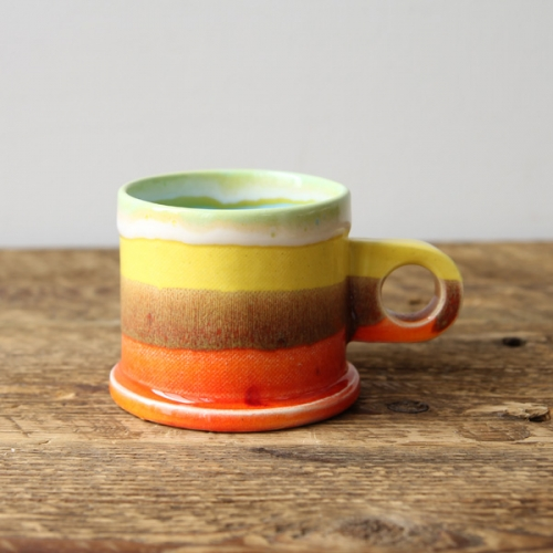 Echo Park Pottery マグカップ Orange×Yellow- dieci|online shop