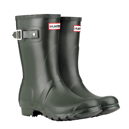 HUNTER ORIGINAL SHORT CLASSIC (DARK OLIVE) / HUNTERBOOTS