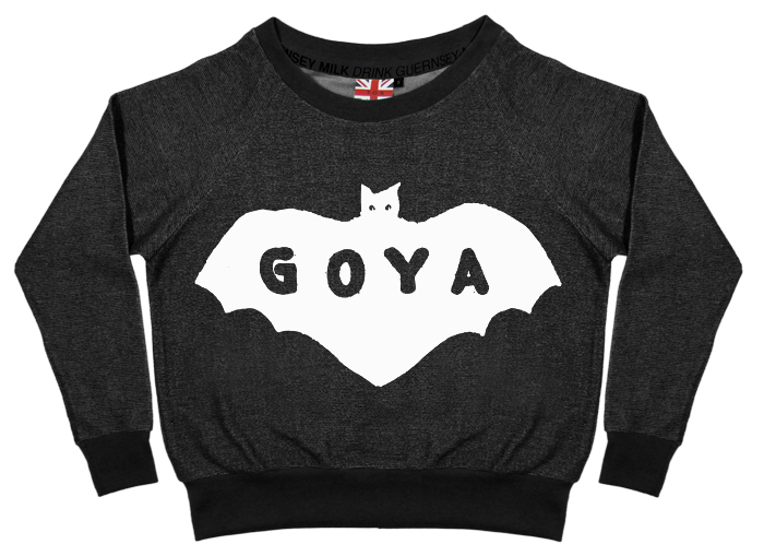 GOYA dyed black pullover / The Orphan's Arms