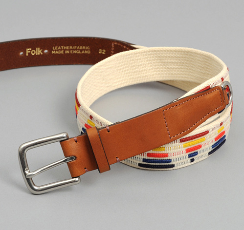 """HESSE"" BELT, ECRU / MULTICOLOR :: HICKOREE'S"