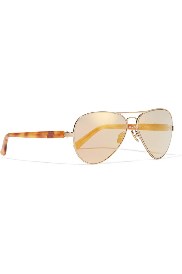 Westward Leaning | Concorde 10 aviator-style acetate and gold-tone sunglasses | NET-A-PORTER.COM