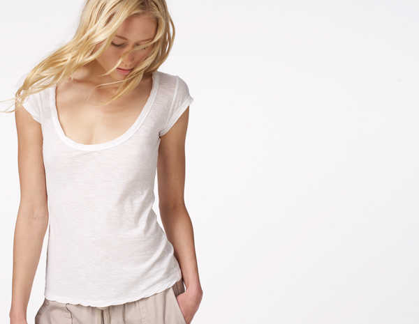 CAP SLEEVE CASUAL TEE - WOMEN - James Perse - WUA3569