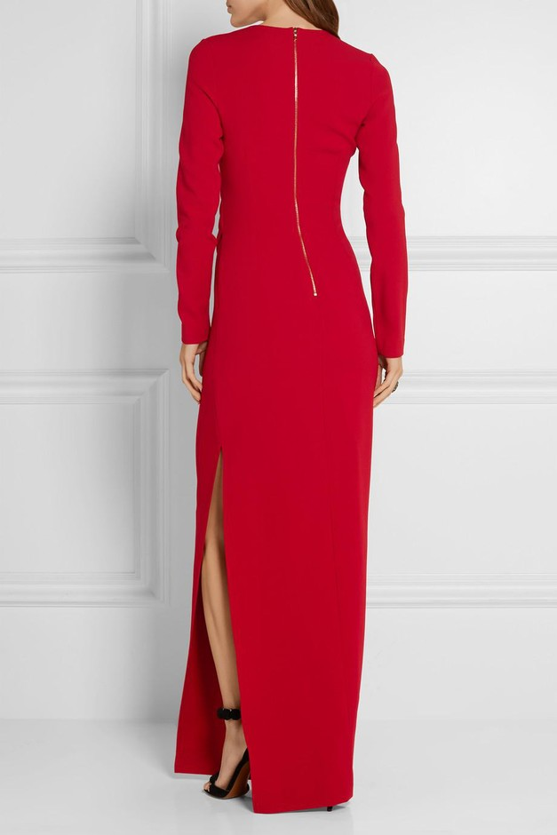 Lanvin | Gathered stretch-crepe gown | NET-A-PORTER.COM