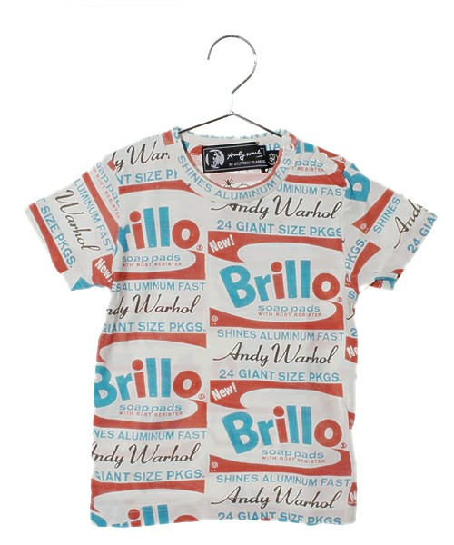 Andy Warhol by Hysteric Glamour for Kids / ORANGE BRILLOS総柄 T-SH(Tシャツ・カットソー) - ZOZOTOWN