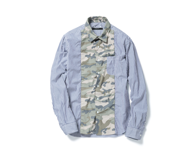 SOPHNET. | PRODUCT | CAMOUFLAGE CENTER PANEL REGULAR COLLAR SHIRT