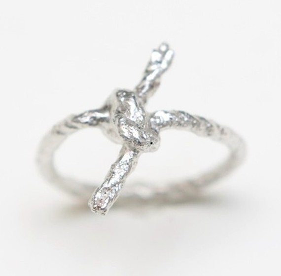 Silver Forget Me Knot Ring by WhiteFly on Etsy