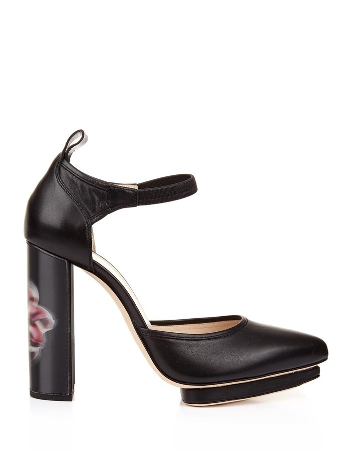 Lenticular Lily leather pumps | Christopher Kane | MATCHESFASH...
