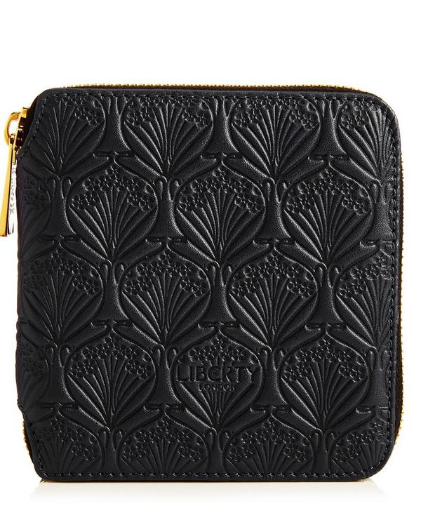 Small Zip Around Wallet in Iphis Embossed Leather | Liberty London