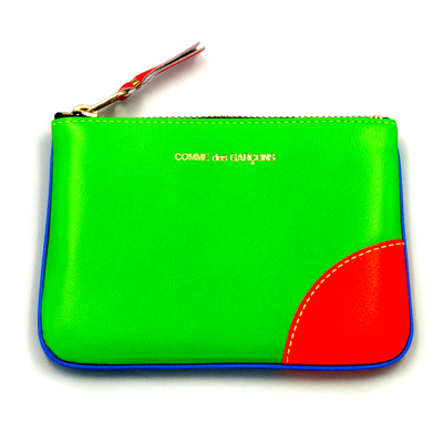 COMME des GARCONS SuperFluo ポーチ green/orange | SOUVENIR FROM TOKYO ONLINE SHOP