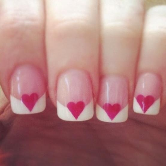 images / Heart French Manicure