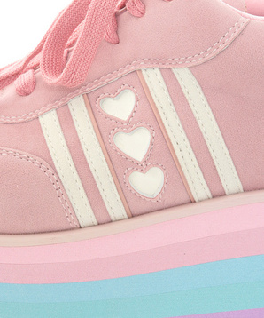 Candy Stripper ONLINE SHOP | POP STAR! HIGH SOLE SNEAKERS | PINK