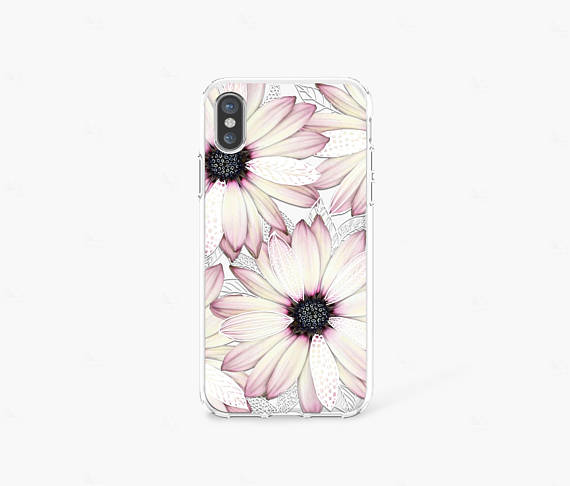 Easter iPhone Case Clear Spring iPhone 8 Case Floral iPhone 7
