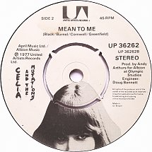 45cat - Celia And The Mutations - Mony Mony / Mean To Me - United Artists - UK - UP 36262