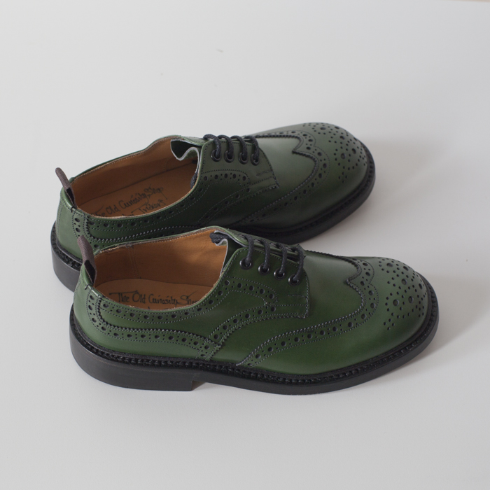 Quilp Shoes / M 7457 Derby Brogue Shoe / Green Aniline - Store - nonsect radical
