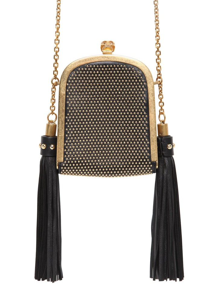 ALEXANDER MCQUEEN - MICRO STUDDED LEATHER SHOULDER BAG - LUISAVIAROMA - LUXURY SHOPPING WORLDWIDE SHIPPING - FLORENCE