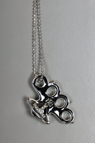 VIVIENNE WESTWOOD JEWELLERY Knuckleduster Pendant Silver - NECKLACES from Autograph UK