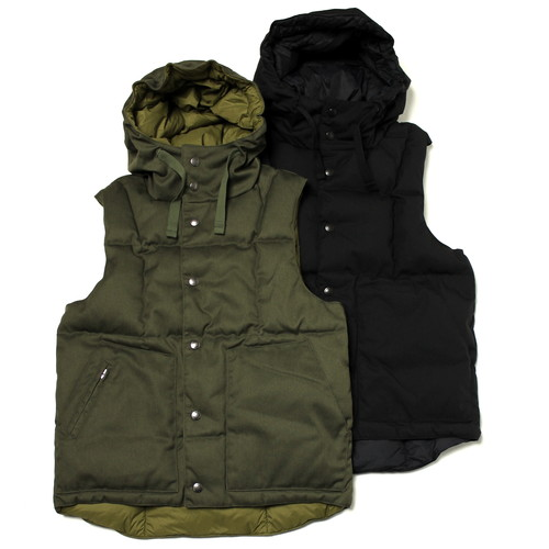 Engineered Garments / Down Vest Hoody - Army Cloth | STARLING online store