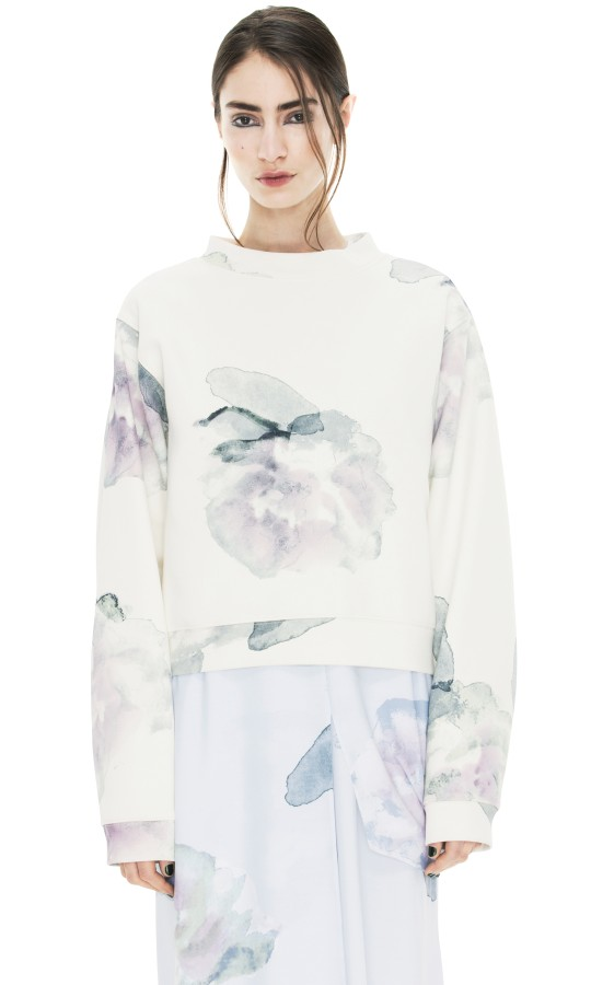 ACNE - Bird Print Exploded Flower Shop Ready to Wear, Accessories, Shoes and Denim for Men and Women