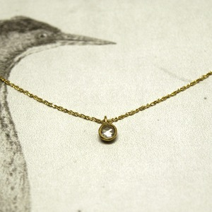 RUST jewellery — rosecut diamond necklace…{3.0mm ミル打ちのネックレス}
