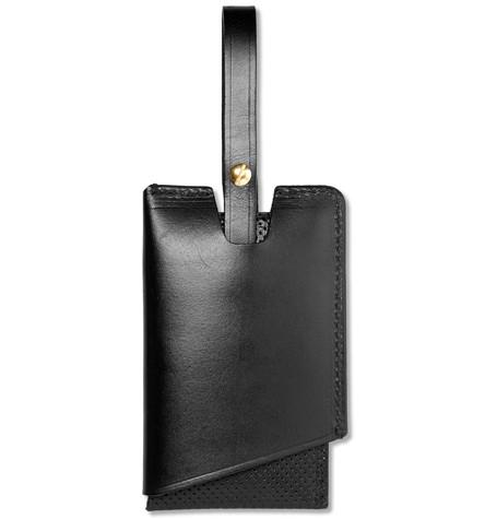 Tarnsjo Garveri - Perforated Leather Luggage Tag